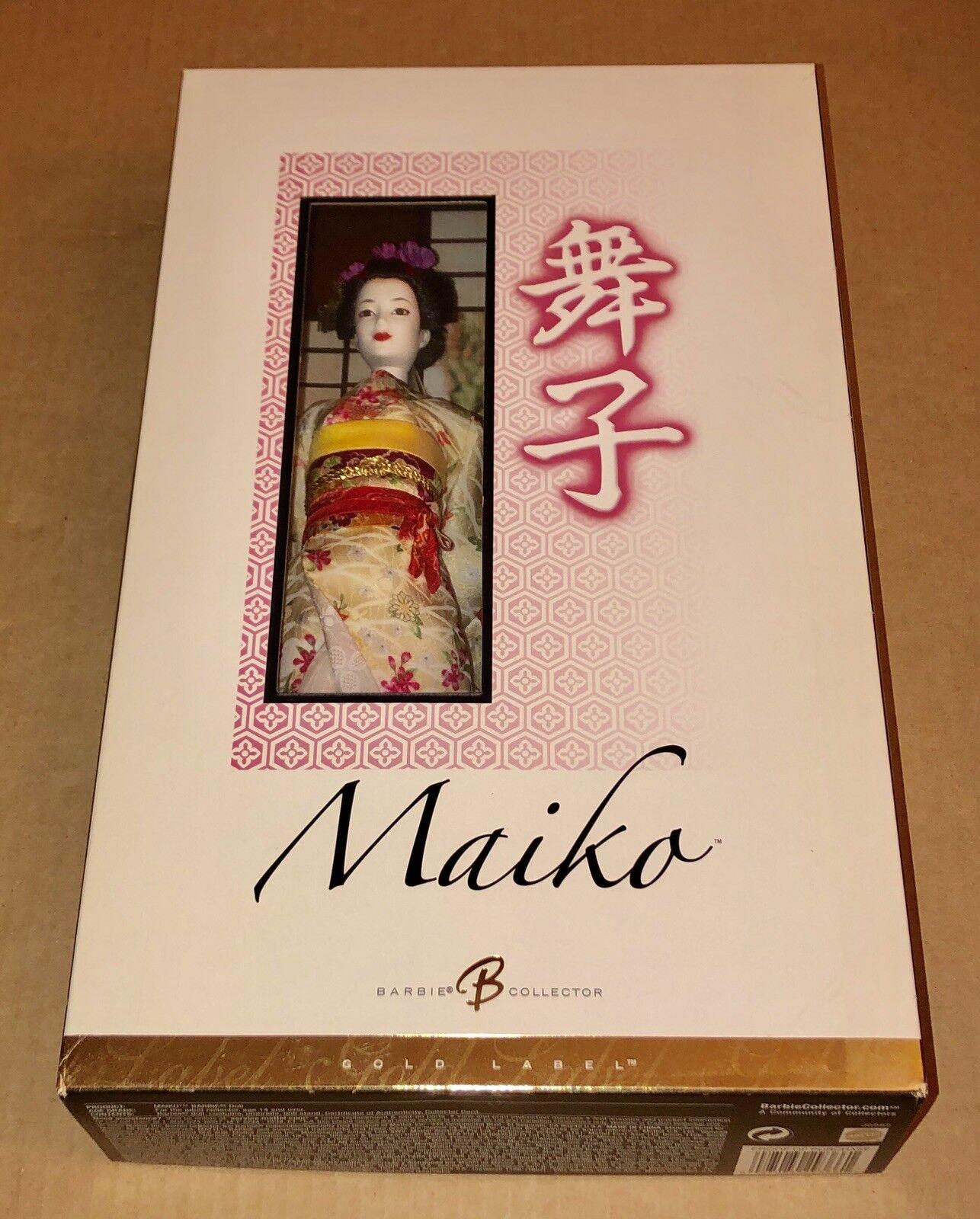 Maiko barbie Muñeca De Colección Japonesa Geisha Kimono Barbie oro Label
