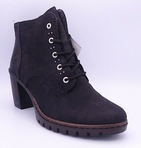 Rieker M2530-00 Women's Black High Heel Ankle Boots Size UK 5 EUR 38