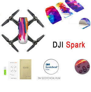 Waterproof Drone Boby Decals Protective PVC Skin Cover Sticker For DJI Spark