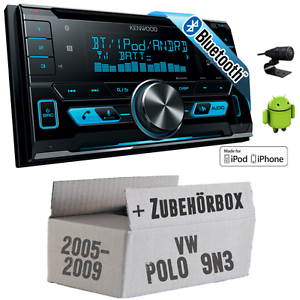 vw polo 9n3 kenwood 2din bluetooth usb autoradio pkw. Black Bedroom Furniture Sets. Home Design Ideas
