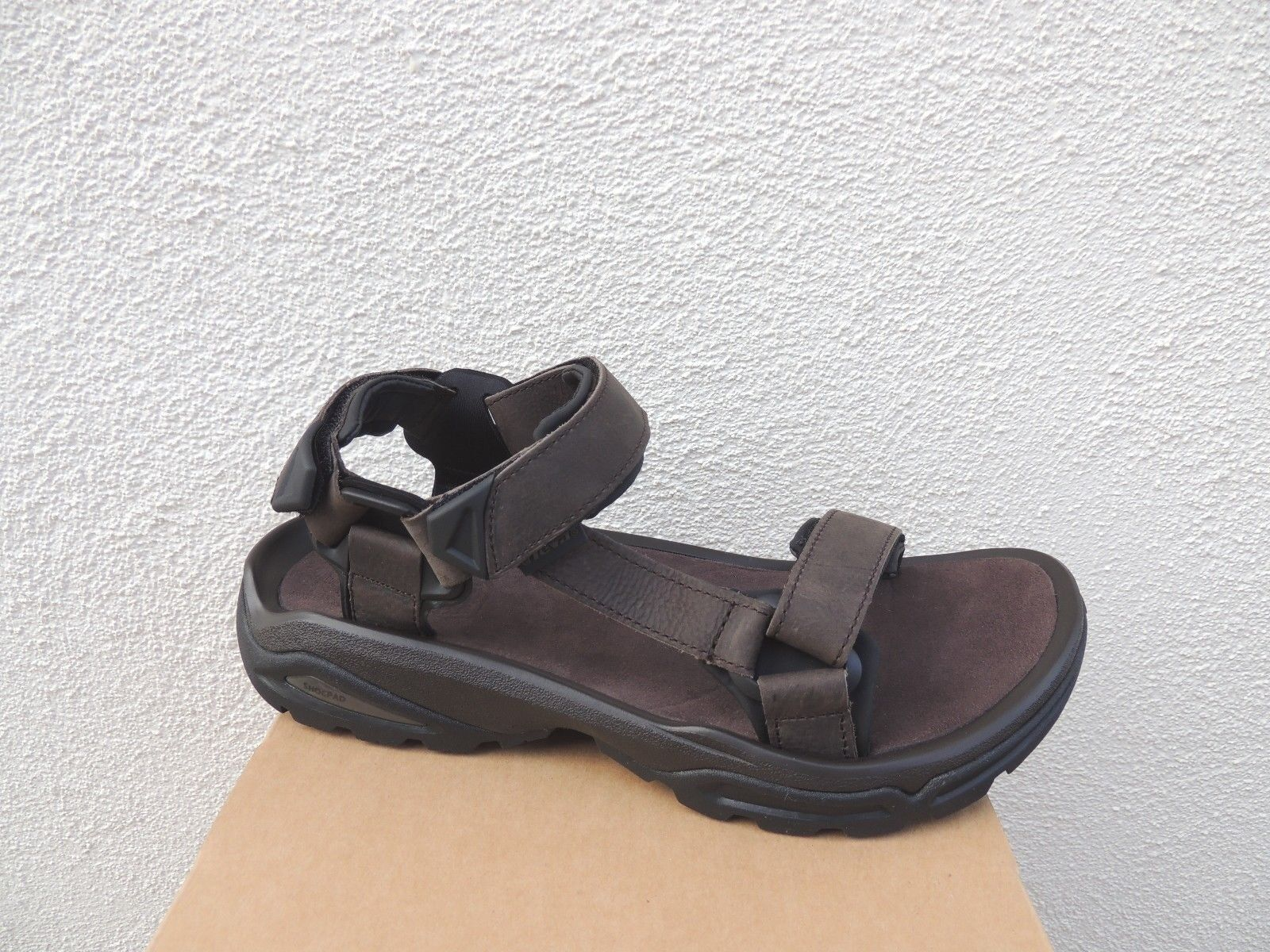 TEVA TERRA LEATHER FI 4 TURKISH COFFEE LEATHER TERRA SPORT HIKING SANDALS, US 11/ EUR 44.5 NIB 8db9c7