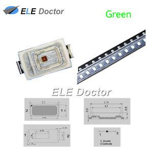 100PCS-SMD-5730-SMT-Luz-Verde-diodos-LED-lampara-ultra-brillante-de-alta-calidad
