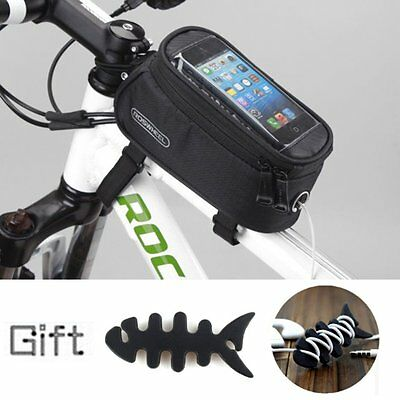 Bicycle Bike Waterproof Frame Pannier Front Phone Bag Case For iPhone 6 + Gift
