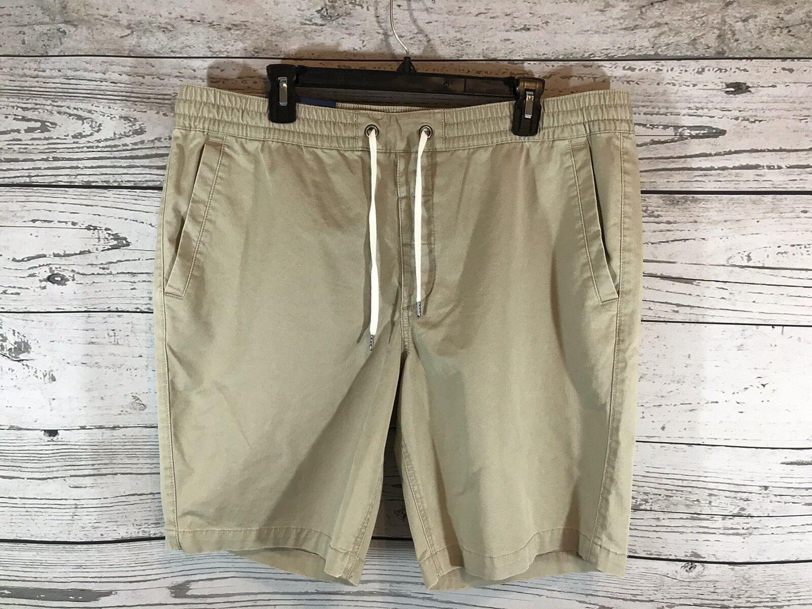 5ebcd2046735 Polo Ralph Lauren Mens Khaki Fit Drawstring Shorts XL X-Large NWT Classic  Tan ntkwse20284-Shorts