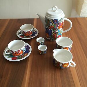 villeroy und boch acapulco set kaffee service eierbecher kaffeekanne tassen ebay. Black Bedroom Furniture Sets. Home Design Ideas