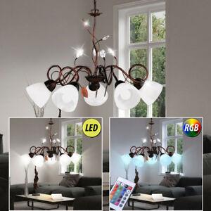 Plafonnier-LED-Lampe-suspendue-feuilles-grimpant-VARIATEUR-salle-a-manger-RGB