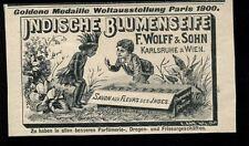Indische Blumenseife--F.Wolff & Sohn-- Weltausstellung Paris- Werbung von 1904--