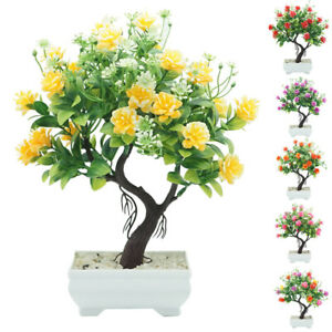 Am-BL-New-Potted-Artificial-Flower-Tree-Bonsai-DIY-Stage-Garden-Wedding-Party