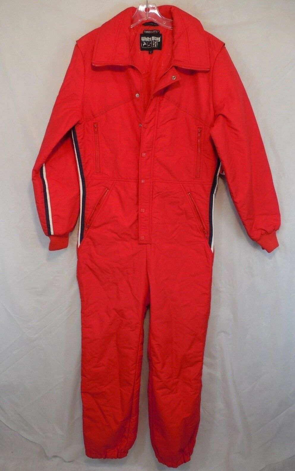 Vtg WHITE STAG Mens Medium M SKI SUIT One Piece Snow Bib Snowsuit USA Thinsulate