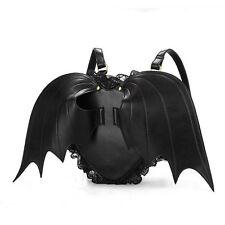 Gothic Backpack Sac à dos Heart Bat Wings Ailes de Chauve-souris Coeur Gothique