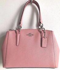 NWT Coach 57523 mini Christie Carryall Crossgrain Leather handbag Blush