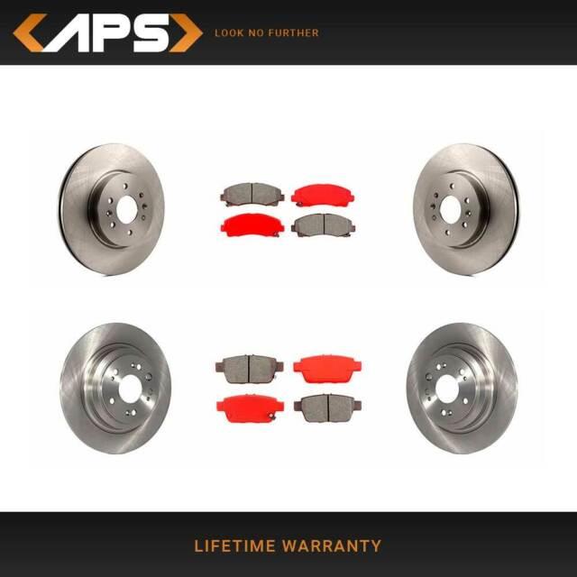 Front & Rear Disc Rotors & Semi-Metallic Brake Pads Kit