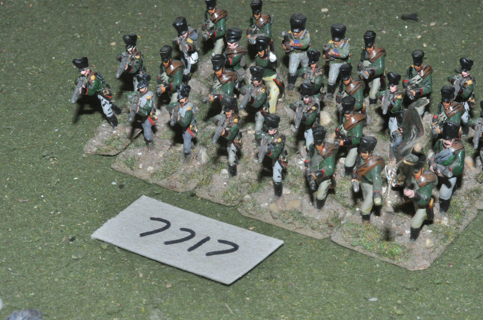 25mm napoleonic   prussian - jagers 32 figs metal painted - inf (7717)