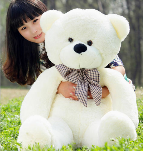24 Inch Plush Teddy Bear Giant Big Cute Beige Huge White Soft Toys Doll Kid Gift