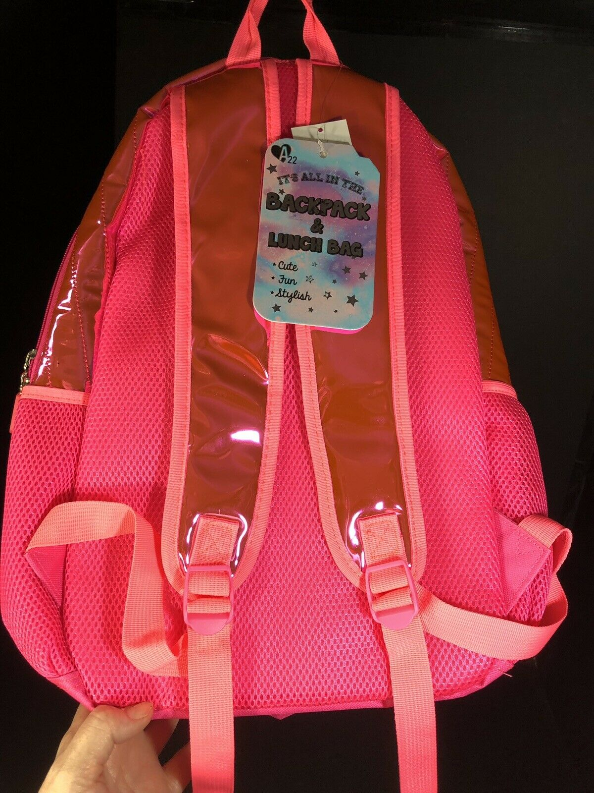 Childrens Girls Backpack 2 PC Set A22 Girl Squad #Strong Color Pink /& Gold NEW