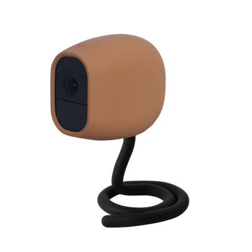 Brown Flexible Twist Stick Mount+Silicone Skin Cover Case for Arlo Pro//Pro 2