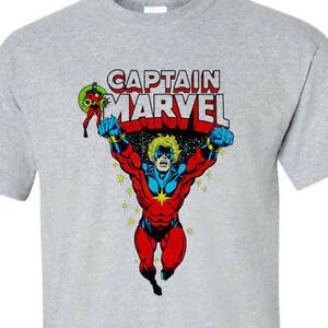 Captain Book Vintage Shirt Superhero T 100Cotton Comic Marvel 53l1KuTFcJ
