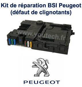 kit r paration boitier bsi peugeot 206 probl me clignotants notice ebay. Black Bedroom Furniture Sets. Home Design Ideas