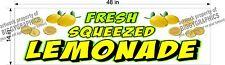 14 X 48 Vinyl Banner Fresh Squeezed Lemonade