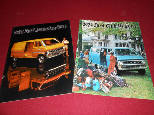 1972 FORD ECONOLINE VAN BROCHURE 2 for 1 Deal! 72 CLUB WAGON SALES CATALOG