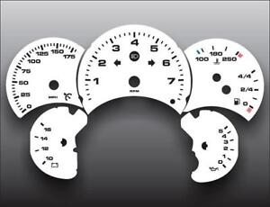 1998-2005-Porsche-996-911-Carrera-175-Manual-Dash-Cluster-White-Face-Gauges