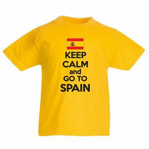 Spain Flag Children/'s Kids T Shirt