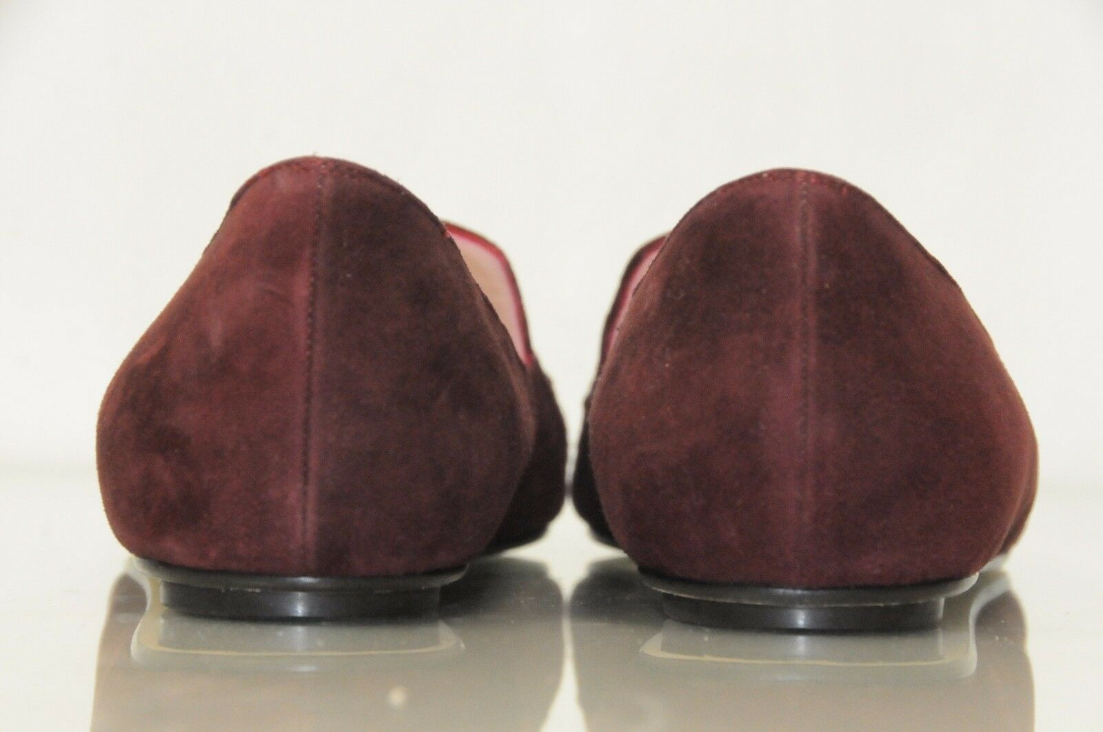 850 NEW OSCAR De La RENTA    Hilery embellished BURGUNDY suede flats shoes 41 e432aa