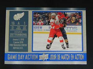 2016-17-UD-Tim-Hortons-Game-Day-Action-6-Henrik-Zetterberg-Detroit-Red-Wings