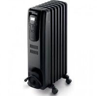 Delonghi Oil Filled Radiator Heater, Ew7507ebl, Black; New, Free Shipping