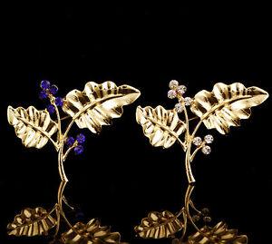 Charms-Gold-Plated-Leaf-Fashion-Rhinestone-Crystal-Brooch-Pin-Women-Jewelry-Gift