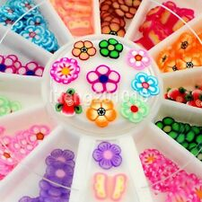 beauty fimo flower nail art decoration slice wheel manicure tool nails decals
