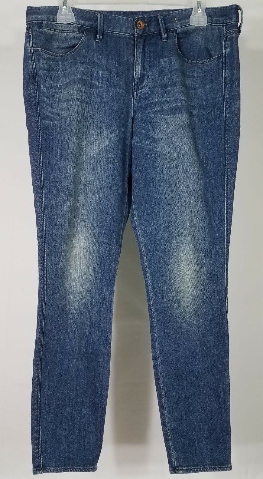 Madewell dark wash distressed Skinny Skinny ankle jeans ladies 30 33W x 29L
