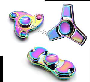 Rainbow Tri-Spinner Bangers Spinner EDC Aluminium Main Doigt Spinner Focus Toys  </span>