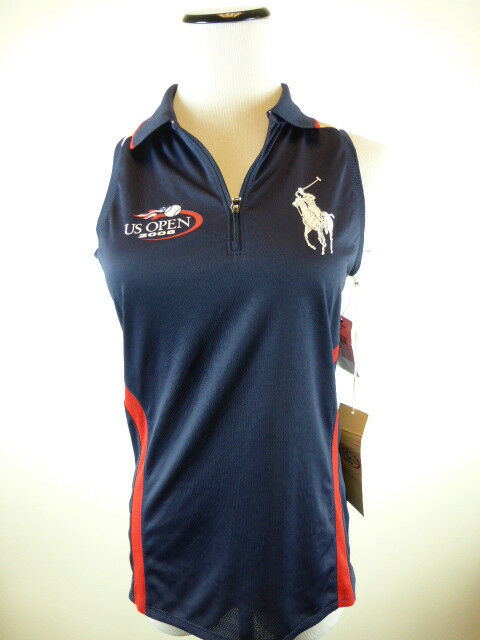 NWT POLO RALPH LAUREN RLX US OPEN 2008 TENNIS SHIRT SLEEVELESS TOP S BIG PONY