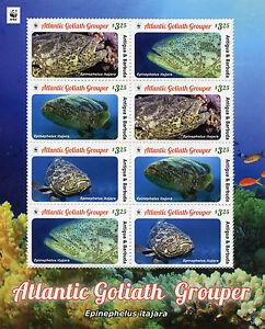 Antigua & Barbuda 2016 Neuf Sans Charnière Atlantic Goliath Mérou Wwf 8v M/s Fish Stamps-afficher Le Titre D'origine