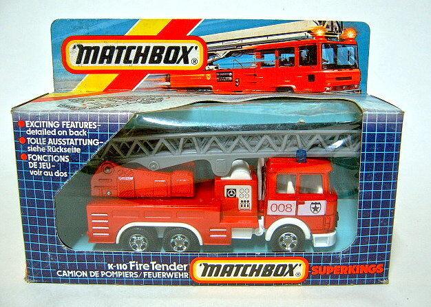 Matchbox Superking Superking Superking K-110 Fire Tender neuwertig in Box fe5f42