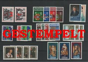 Liechtenstein-Vintage-Yearset-1982-Timbres-Used-Complet-Plus-Sh-Boutique