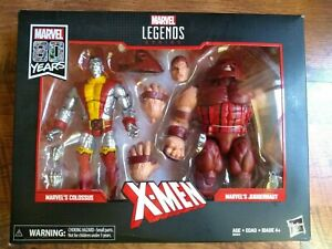 "Marvel Legends 6/"" Comics 80 Years Colossus Juggernaut 2 Pack X-Men Classic New"