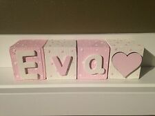 Personalised Baby Name Wooden Letter Blocks.Perfect Christening/baby shower Gift