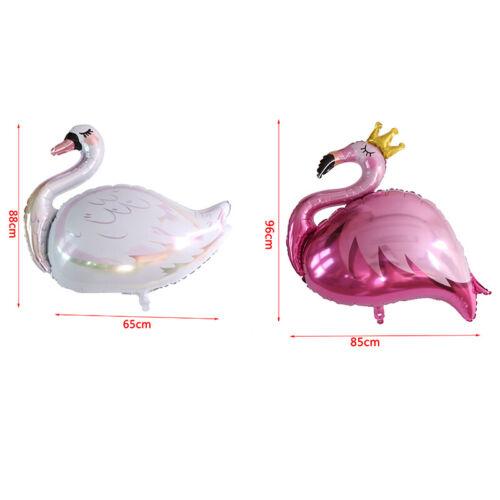 Large white swan foil balloon flamingo crown balloons birthday decor kids to bz