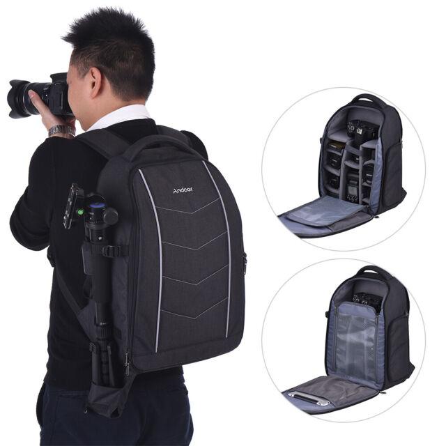Andoer Backpack Travel Shoulder With Rain Cover for Canon Nikon DSLR Camera R0Q8