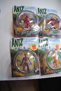 ANTZ-DREAMWORKS-PLAYMATES-nice-set-of-4-figures-all-nib