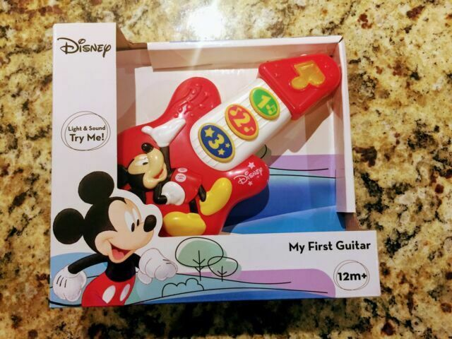 Light Sound Toy Music Gift Christmas New Disney Mickey Mouse First Guitar 12