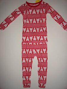 NWT-GAP-18-24-2T-3T-Years-Brannan-Bear-Fair-Isle-2-Piece-Pajamas-Red-New