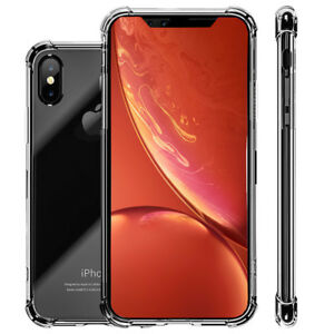 For-iPhone-XS-Max-8-7-Plus-XR-Case-Clear-Shockproof-Bumper-Crystal-Hard-PC-Cover
