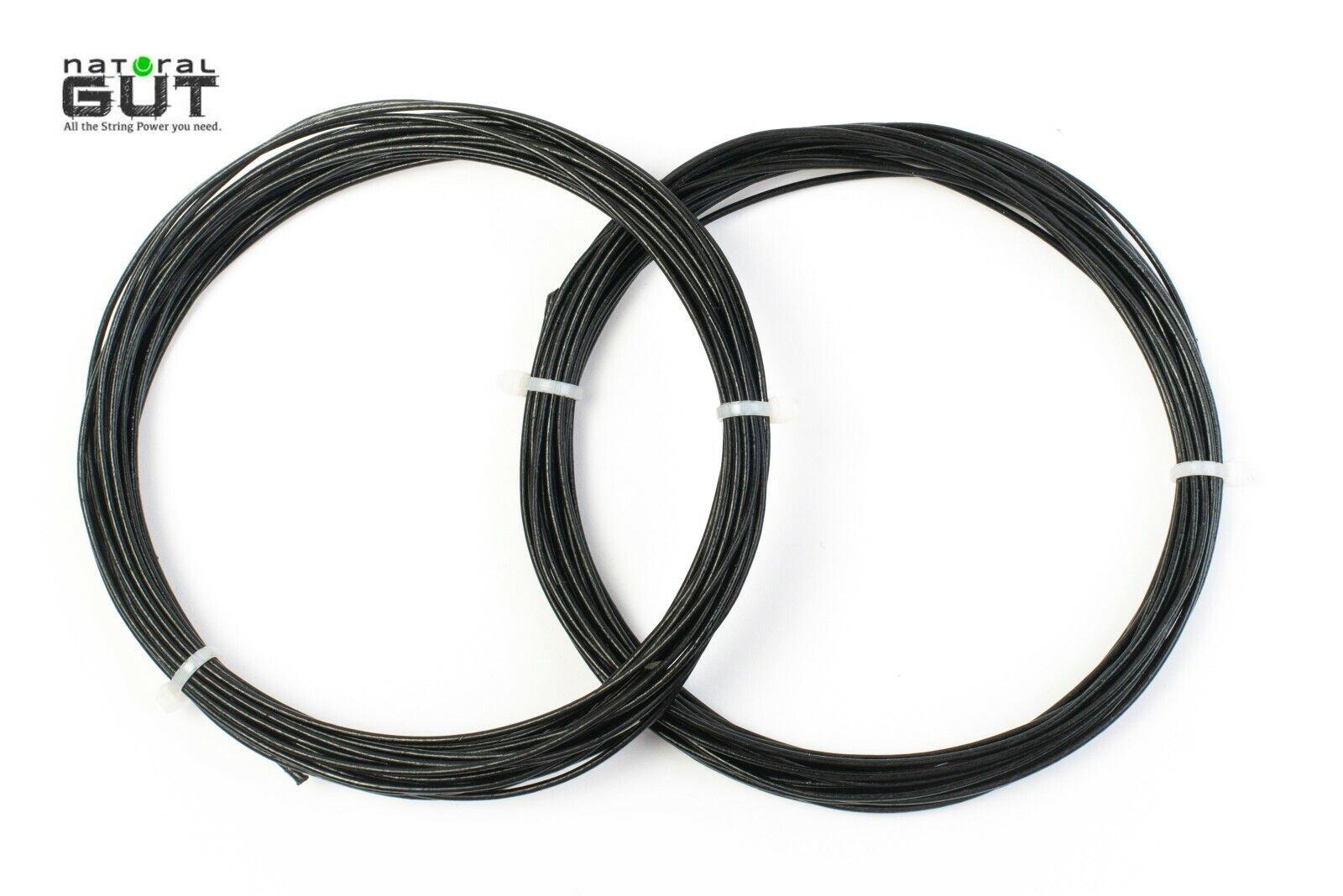 3 Sets N. G.  W. 17G V5 100% Natural Gut Raqueta Tenis Cuerda Negro Color 40feet  genuina alta calidad