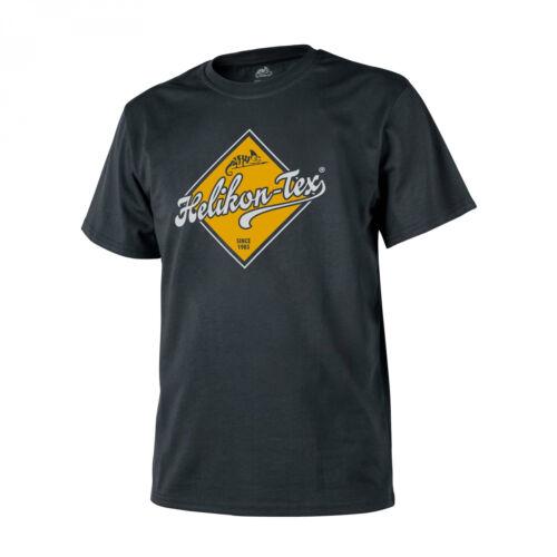 Helikon-Tex T-Shirt Cotton Road Sign Black LOGO SHIRT BAUMWOLLE REGULAR FIT