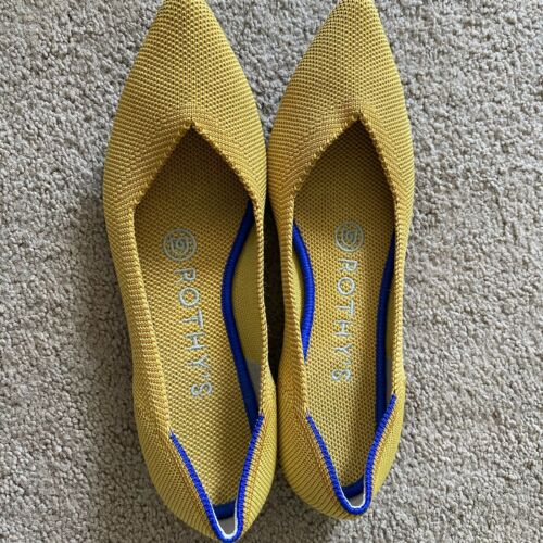 ROTHYS The Point Marigold Yellow Shoes Womens Sz 5
