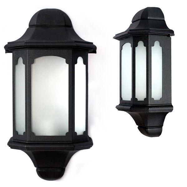 Lanterns Black Post Light Frosted Lens