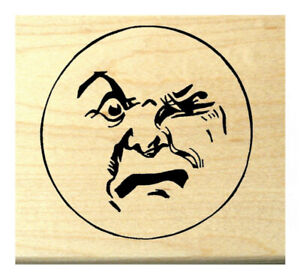 MOON Face Unmounted rubber stamp #15